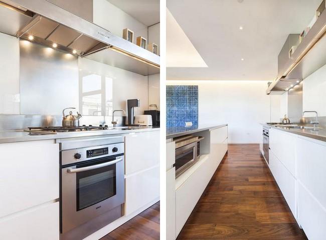 Интерьер элегантной квартиры в Сохо - кухня