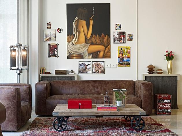 проект квартиры - предметы искусства в гостиной