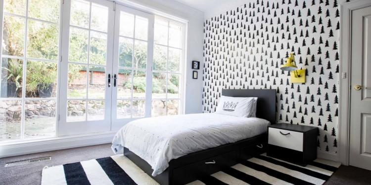 Черно-белая детская комната (8)