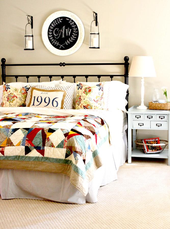 Интерьер спальни в стиле пэчворк фото 1