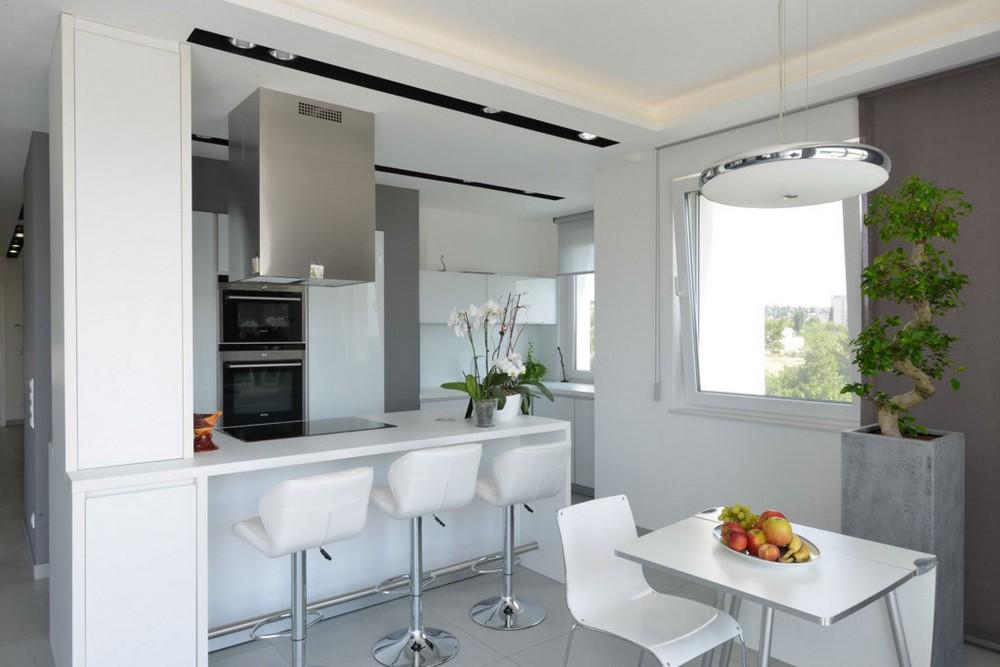 Пентхаус в стиле минимализм - фото кухни