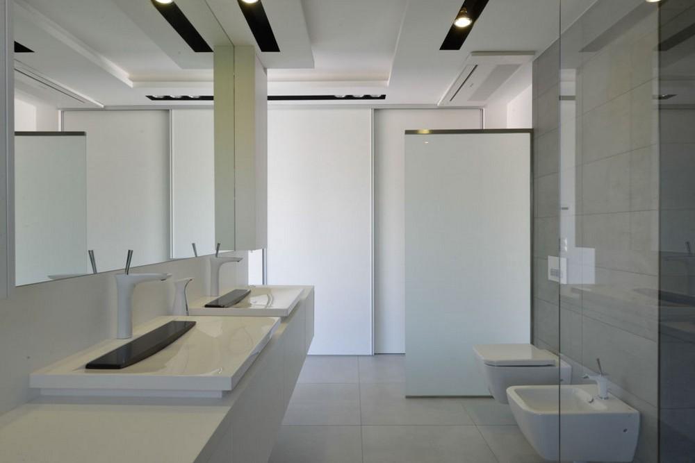 Пентхаус в стиле минимализм - фото ванной комнаты