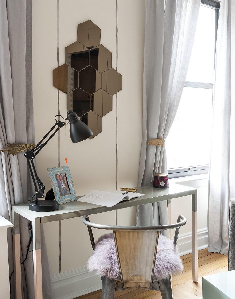 Интерьер квартиры-студии - рабочая зона