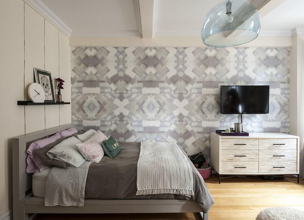 Интерьер квартиры-студии - спальная зона