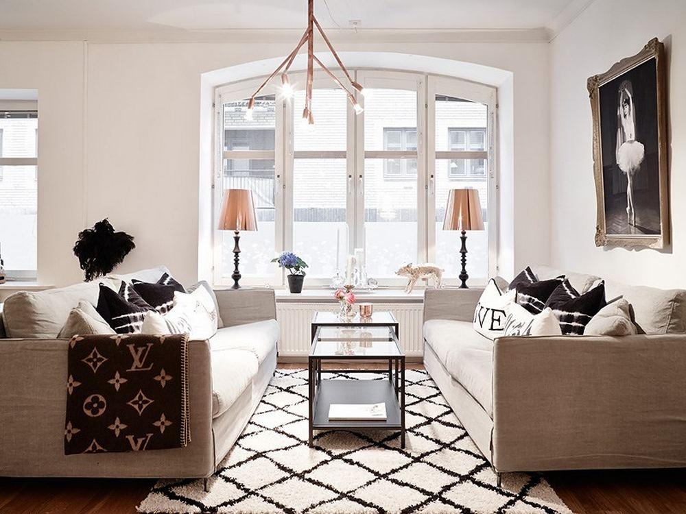 проект квартиры - Два дивана и два торшера