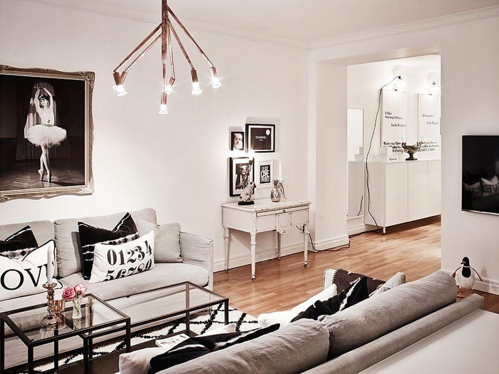 проект двухкомнатной квартиры - вид на прихожую
