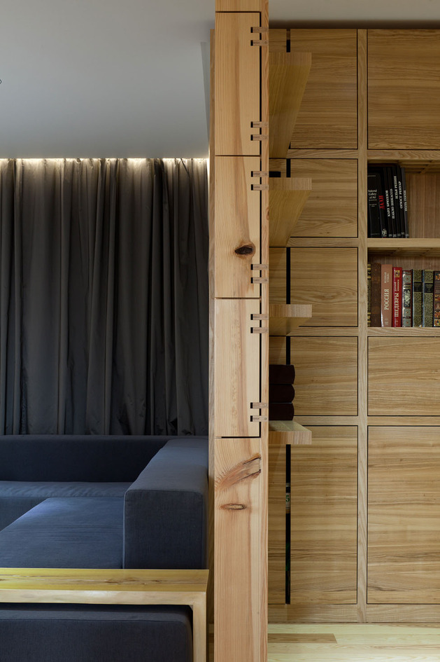 Эко интерьер квартиры с открытой планировкой (10)