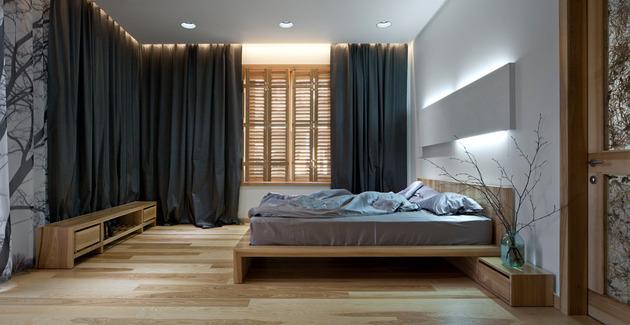 Эко интерьер квартиры с открытой планировкой (15)