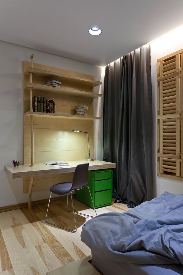 Эко интерьер квартиры с открытой планировкой (19)
