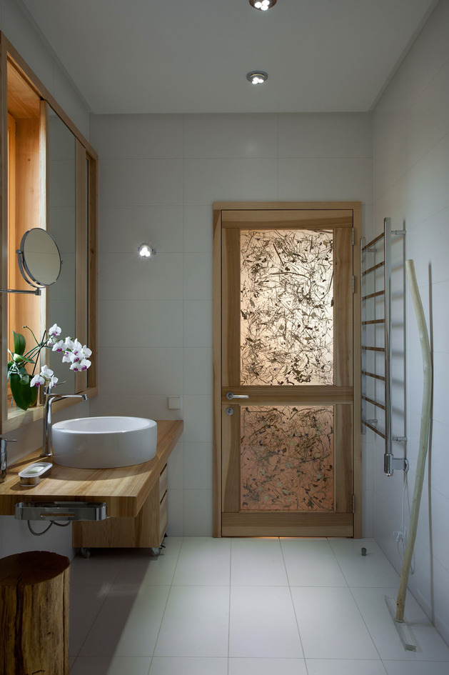 Эко интерьер квартиры с открытой планировкой (21)