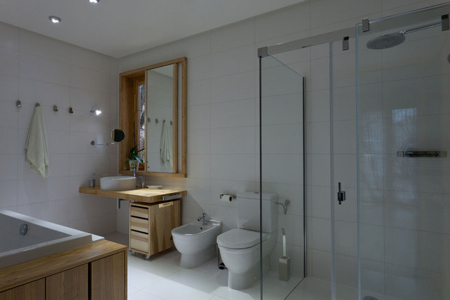 Эко интерьер квартиры с открытой планировкой (25)