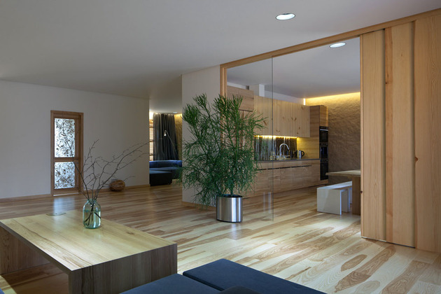 Эко интерьер квартиры с открытой планировкой (3)