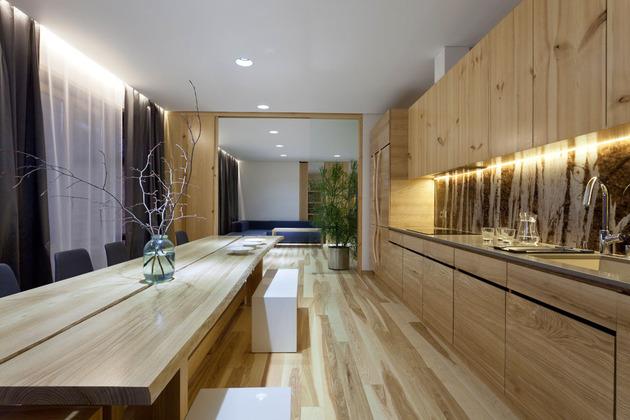 Эко интерьер квартиры с открытой планировкой (6)