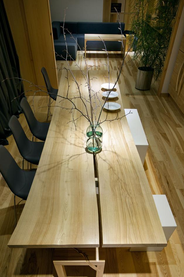 Эко интерьер квартиры с открытой планировкой (7)