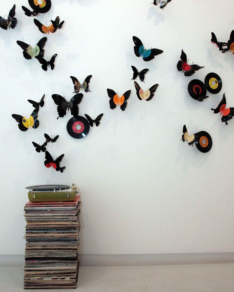 Декор стен бабочками своими руками: трафареты, материалы 100
