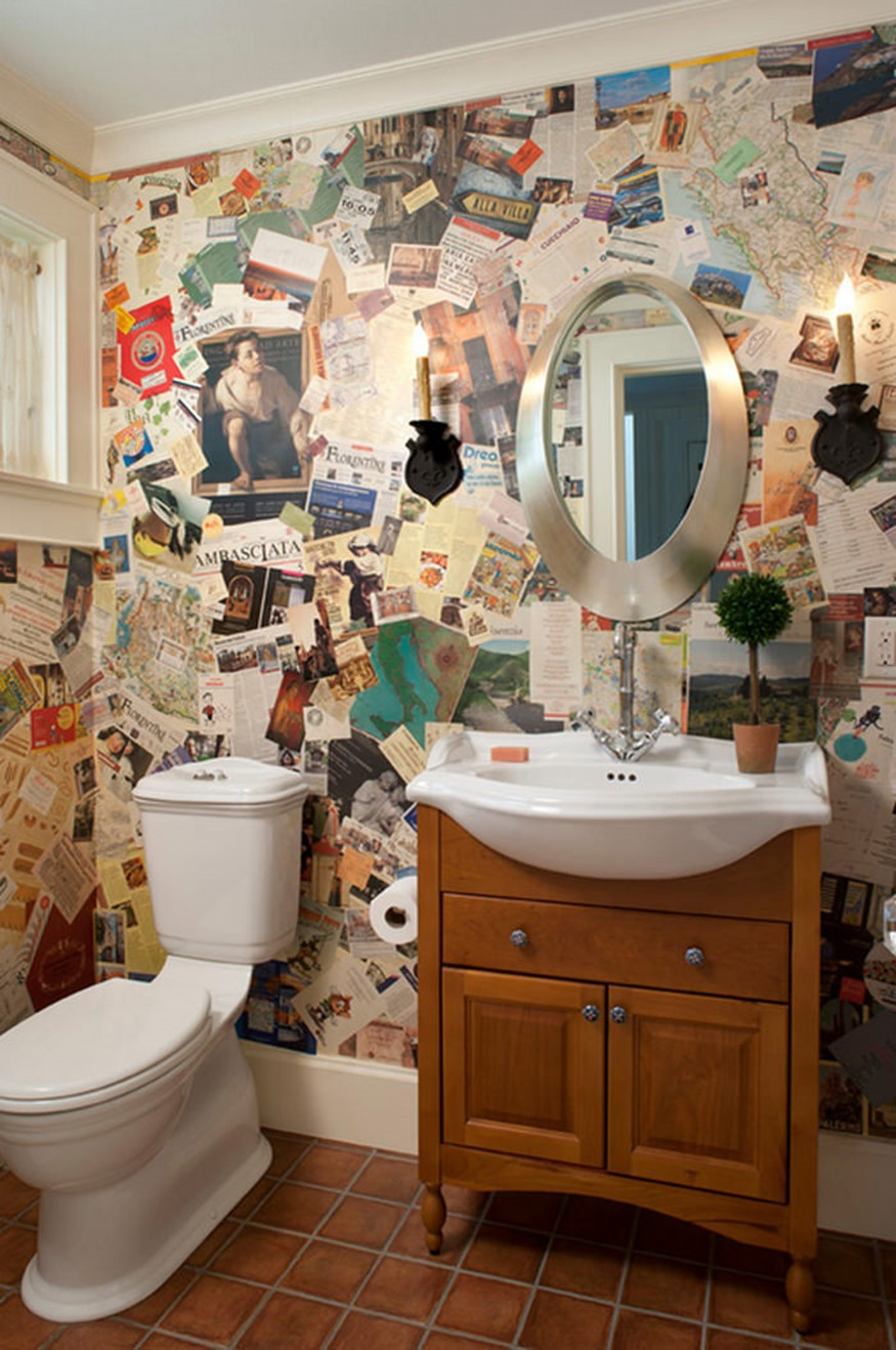 Украсить ванную комнату своими руками