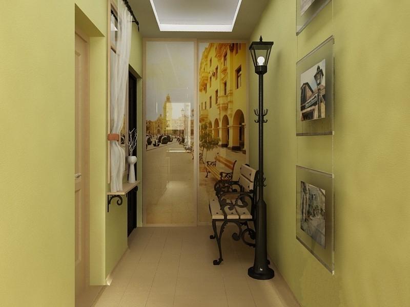Дизайн узкой длинной прихожей в квартире