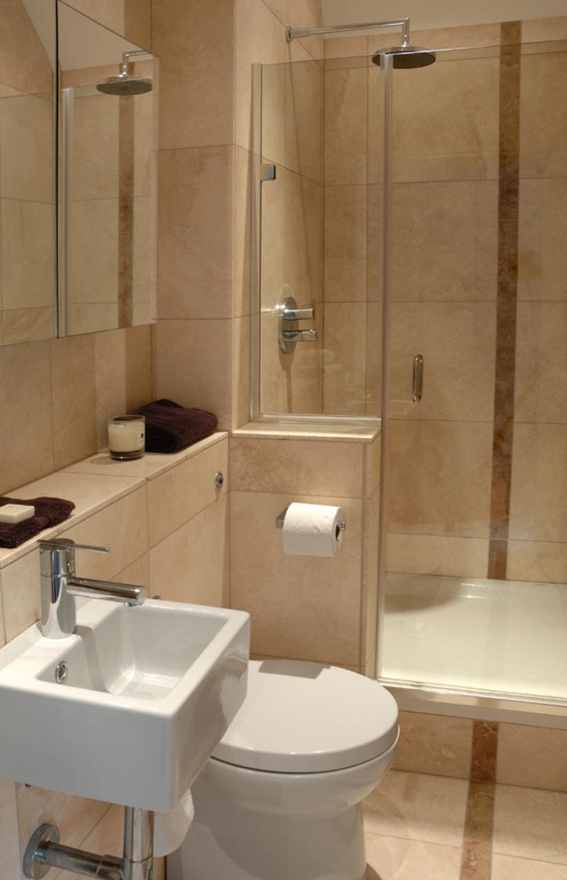 маленькая ванная комната с туалетом - фото