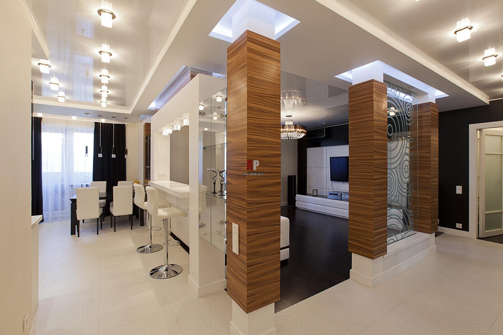 Колонны в интерьере квартиры - лучшие варианты использования, фото