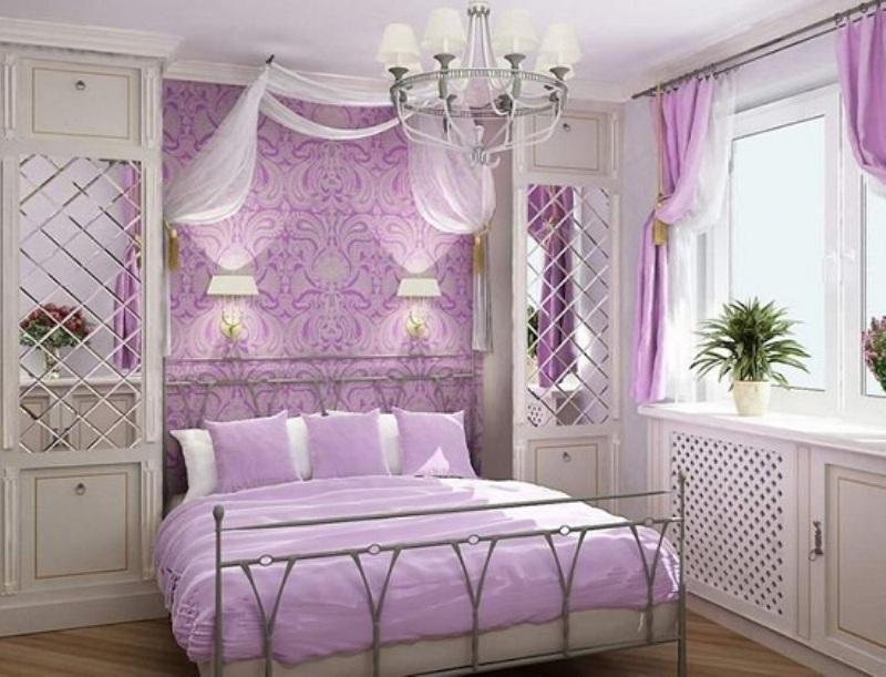 Fioletovyiy-tsvet-v-interere-spalni-----osnovnyie-pravila-otdelki 10