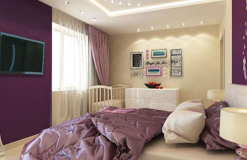 Fioletovyiy-tsvet-v-interere-spalni-----osnovnyie-pravila-otdelki 11