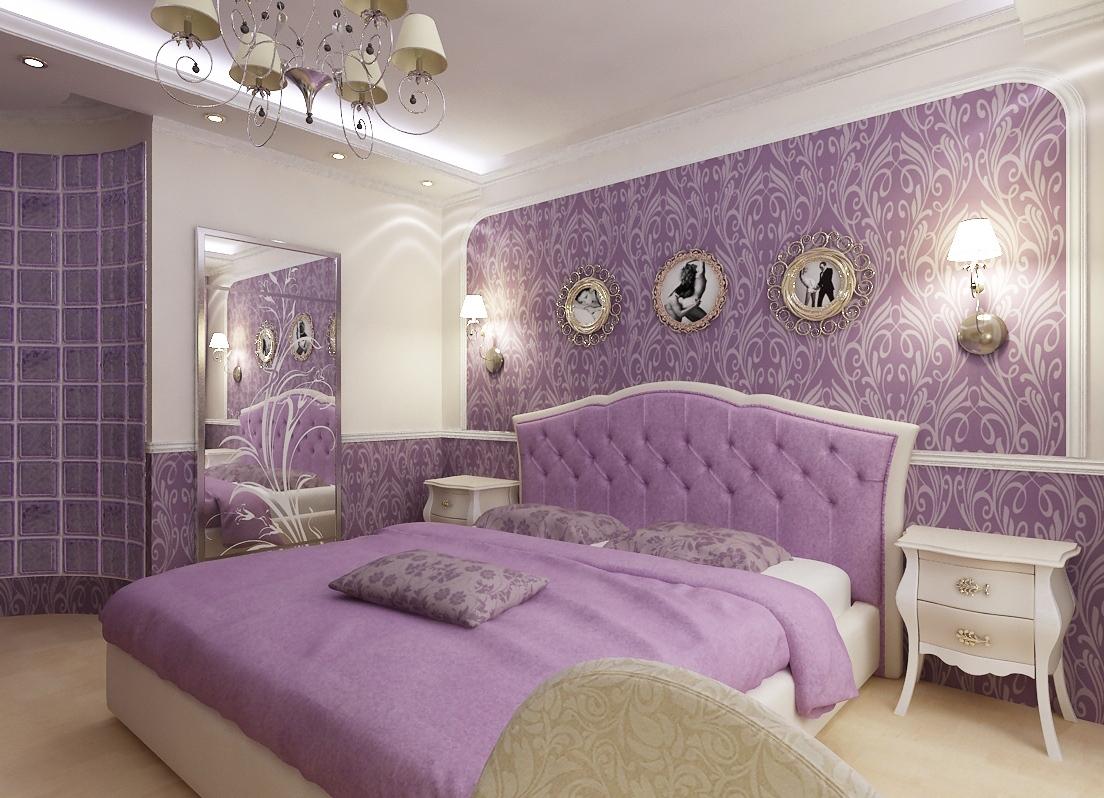 Fioletovyiy-tsvet-v-interere-spalni-----osnovnyie-pravila-otdelki 14