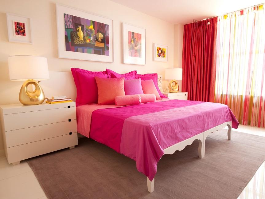 спальня для девушки в современном стиле