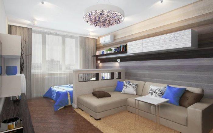 Дизайн детской совмещенной с гостиной