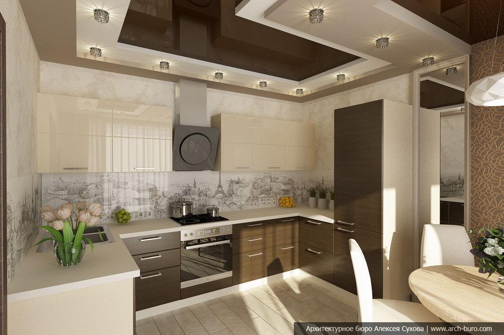 Дизайн интерьера трехкомнатной квартиры, Москва
