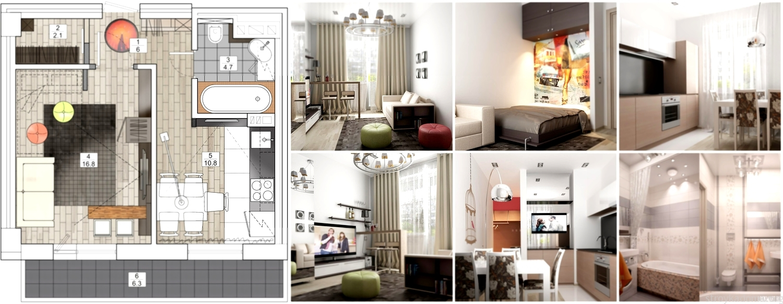 Перепланировка квартиры — объединение кухни и комнаты