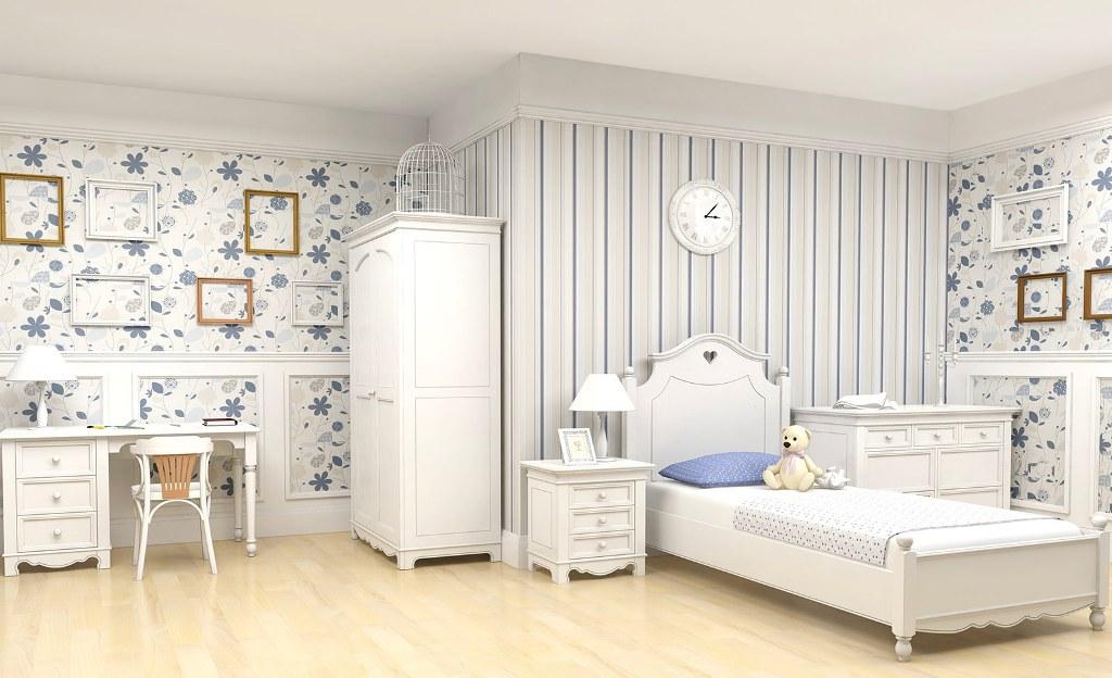 Нежно-белая комната для ребенка