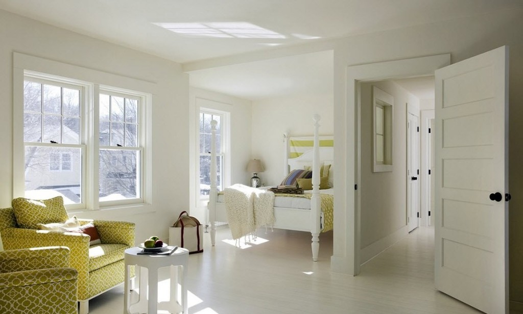 Белый ламинат в квартире фото
