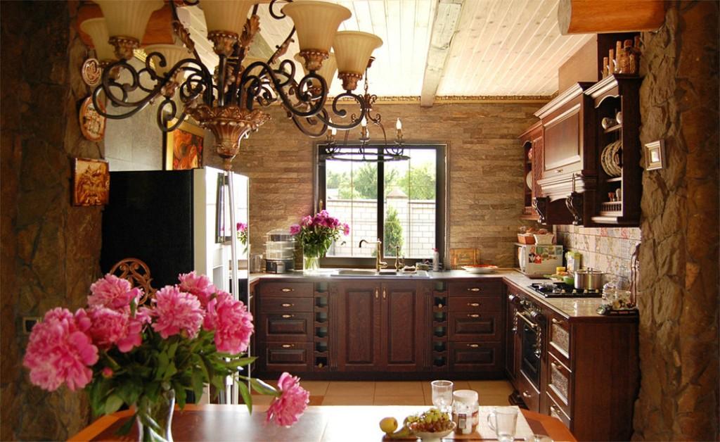 Кухни под дерево в викторианском стиле