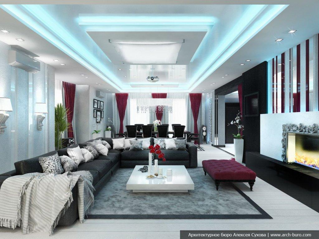 Фото стильной гостиной
