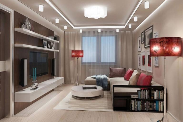 Дизайн зала 17 кв м