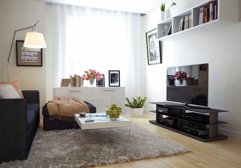 Уютная минималистичная гостиная комнаты