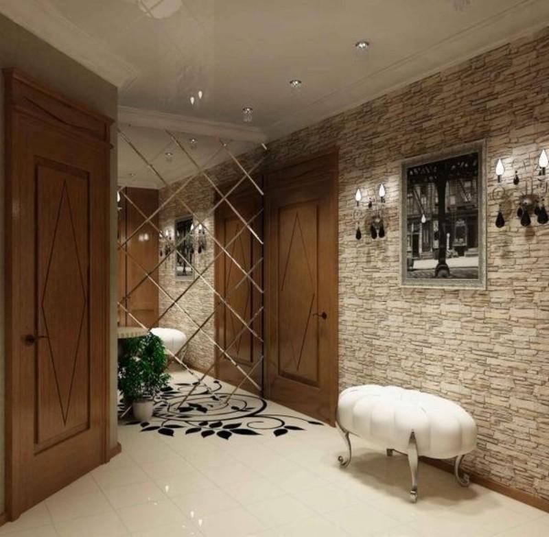 Дизайн стен в прихожей фото