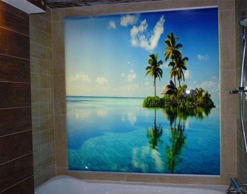 Дизайн стен в ванной фото
