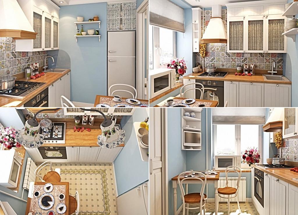 Фото дизайна маленькой кухни своими руками 39