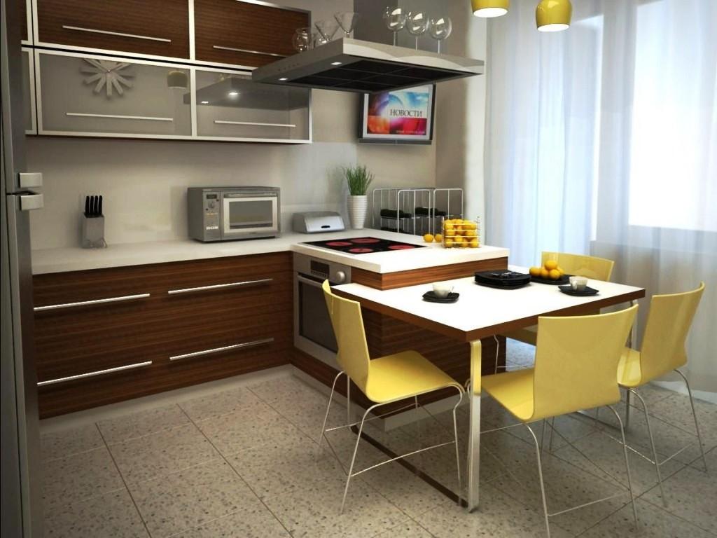 Дизайн кухни 15 м с балконом