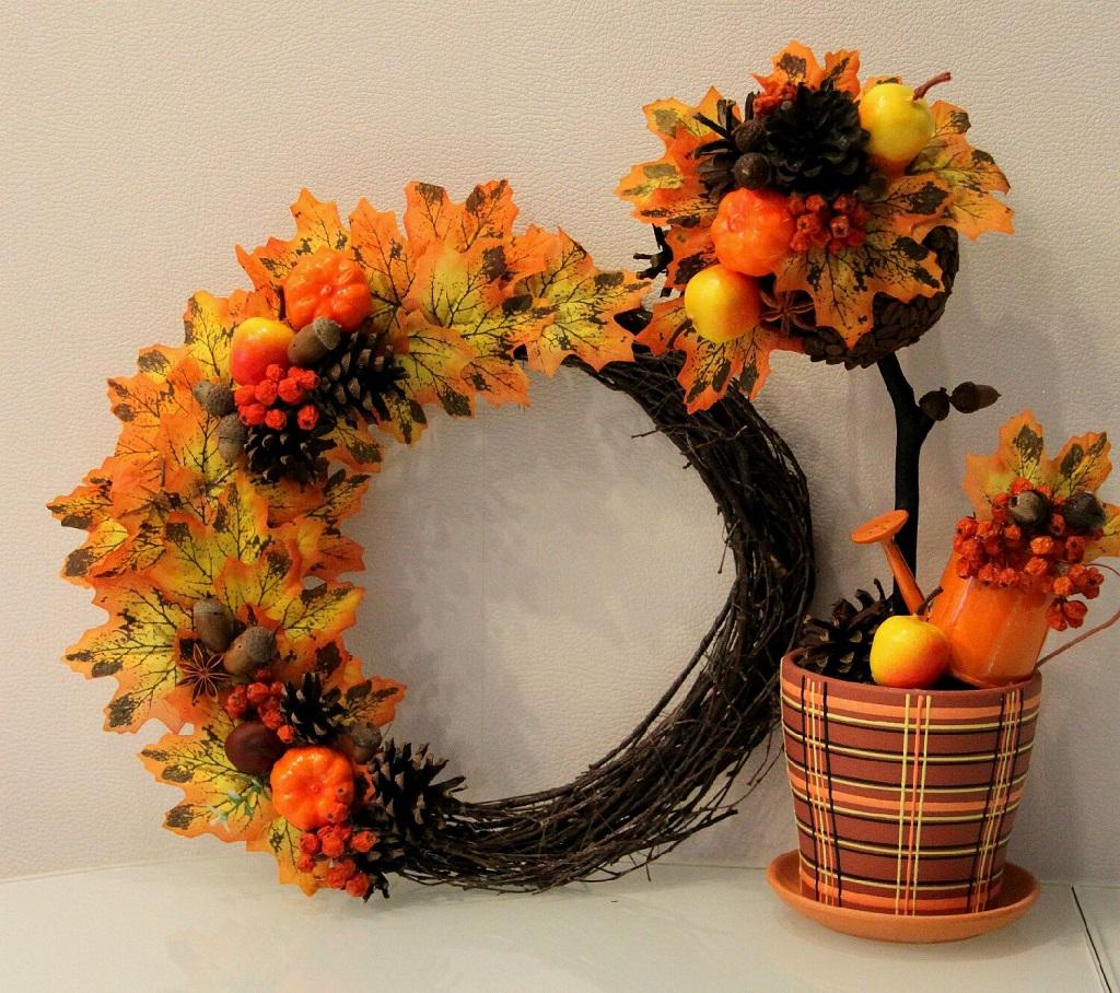 Осенний топиарий своими руками фото 27