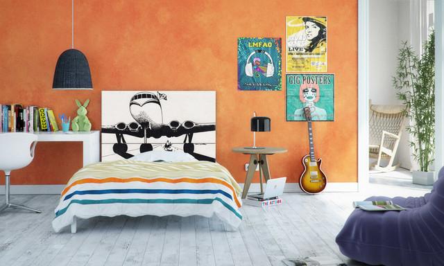 Дизайн яркой подростковой комнаты