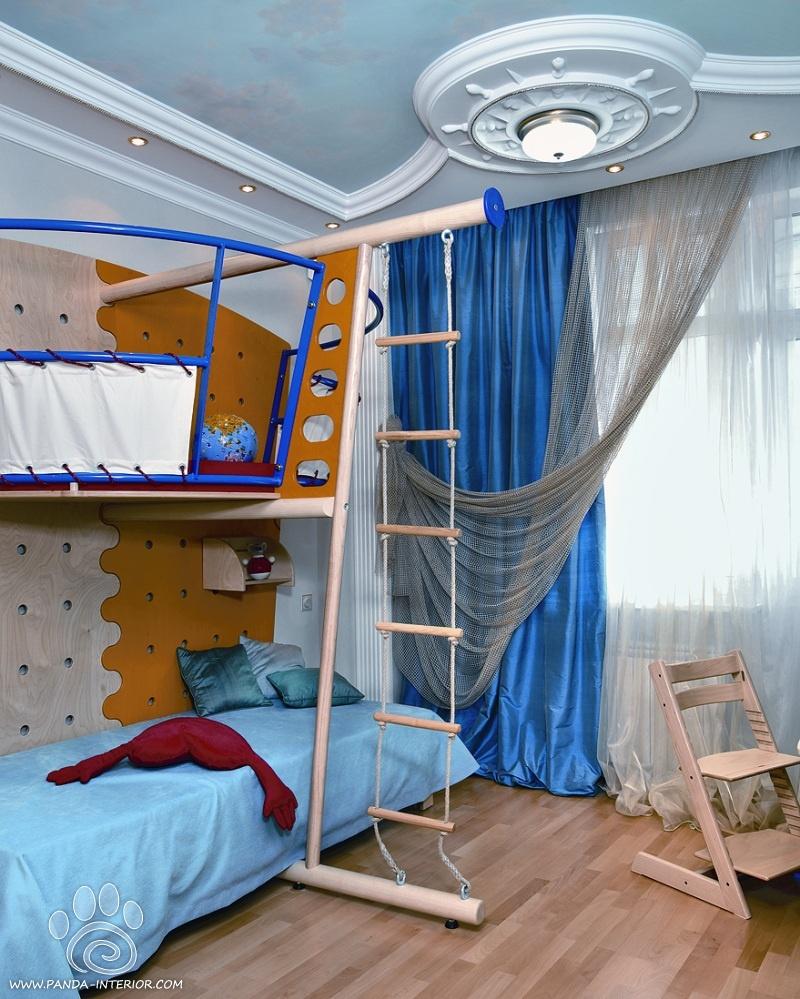 детские комнаты в морском стиле фото 3
