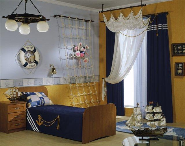 детские комнаты в морском стиле фото 2