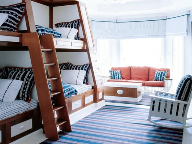 детские комнаты в морском стиле фото 1