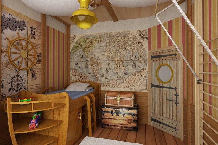 детские комнаты в морском стиле фото 6