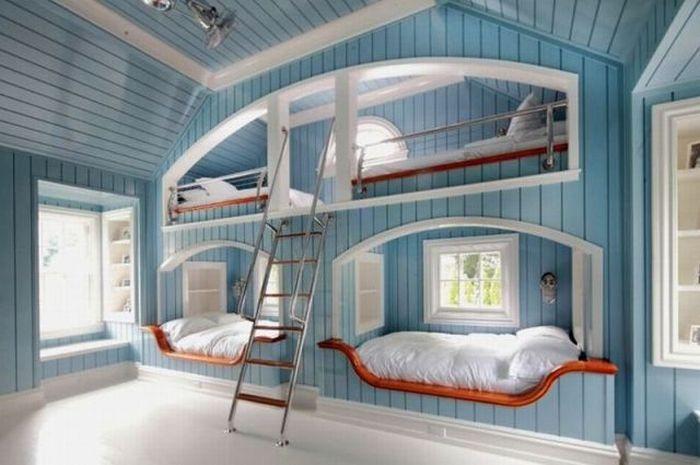 детские комнаты в морском стиле фото 4