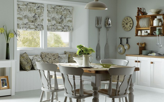 шторы для кухни – римские (8)