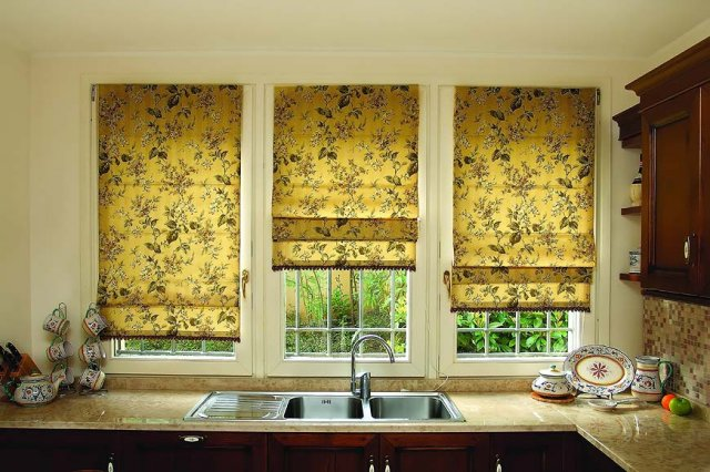 шторы для кухни – римские (9)
