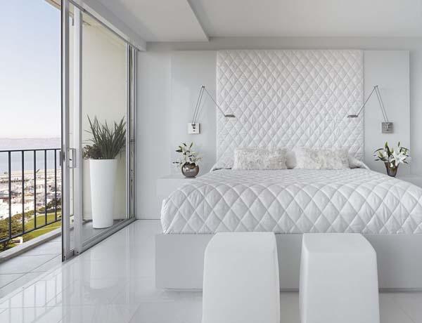 Белоснежная спальня интерьер